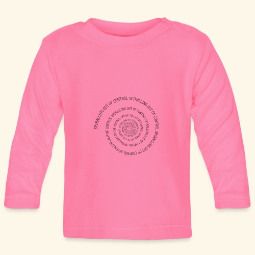 SPIRAL TEXT LOGO BLACK IMPRINT - Baby Long Sleeve T-Shirt