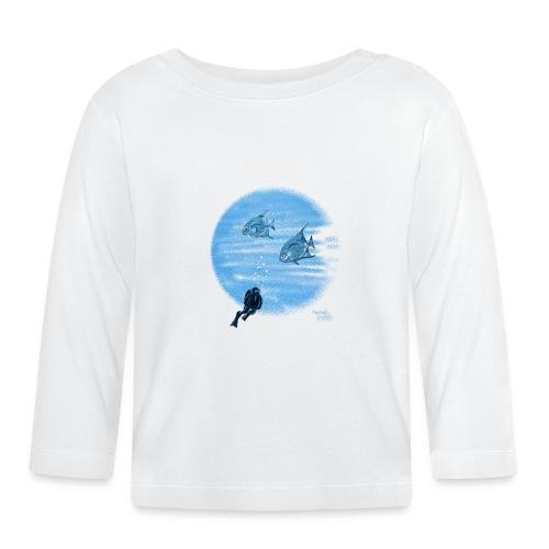 Zilveren visjes - T-shirt manches longues Bébé