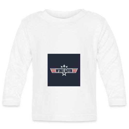 top gun wingman design - Camiseta manga larga bebé