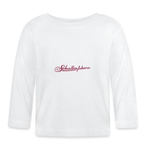 Logo Schwalbenfahrerin - Baby Langarmshirt