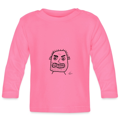 Vit T-shirt Gubben - Långärmad T-shirt baby