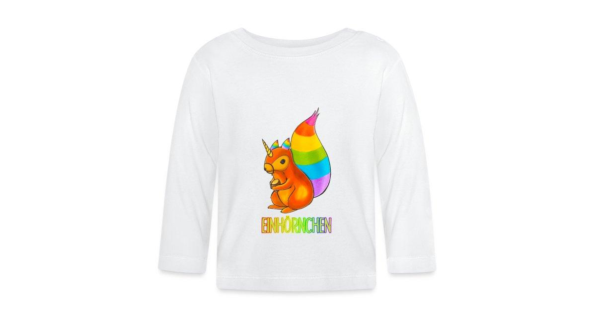 MoonWorks/® Baby Langarmshirt Babyshirt Einhorn auf Donut Ich Bin so s/ü/ß ich k/önnte Zucker pupsen Spruch M/ädchen Shirt