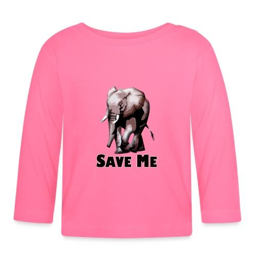 Elefant - SAVE ME - Baby Langarmshirt