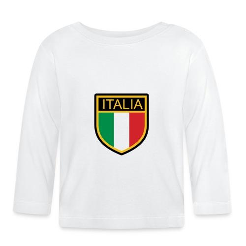 SCUDETTO ITALIA CALCIO - Maglietta a manica lunga per bambini