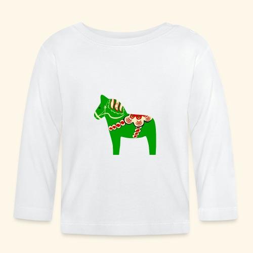 Grön dalahäst - Långärmad T-shirt baby