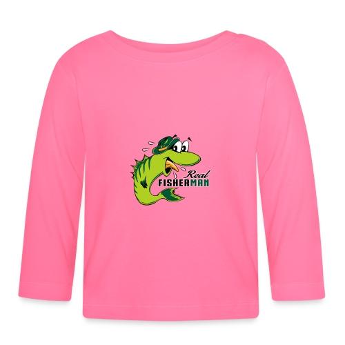 10-38 REAL FISHERMAN - TODELLINEN KALASTAJA - Vauvan pitkähihainen paita
