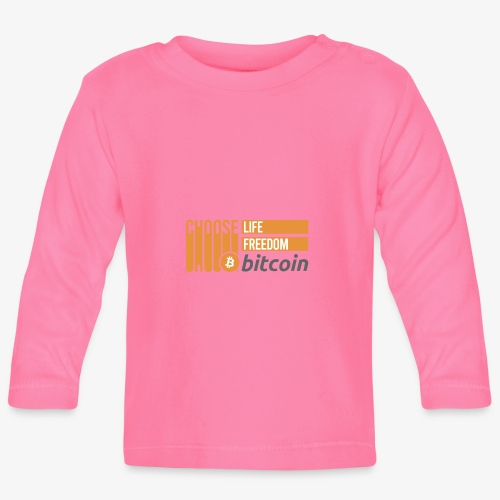 Bitcoin - T-shirt manches longues Bébé
