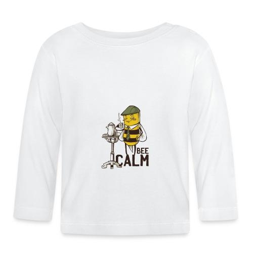 Bee Calm Biene trinkt Tee und entspannt - Baby Langarmshirt