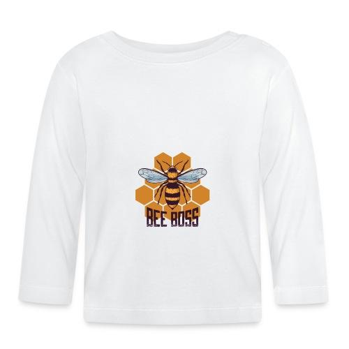 Bee Boss Biene Bienenkönigin Waben - Baby Langarmshirt