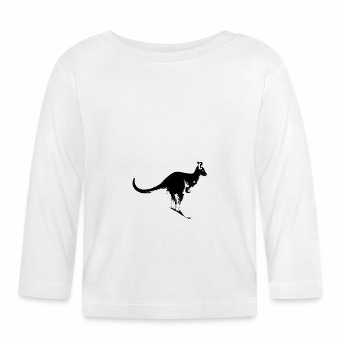 Känguru in schwarz weiss - Baby Langarmshirt