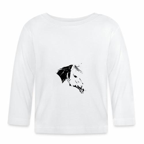 Pferd als schwarze Silhuette - Baby Langarmshirt