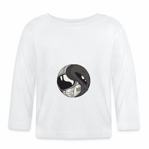 Yin Yang space Alien und Astronaut - Baby Langarmshirt