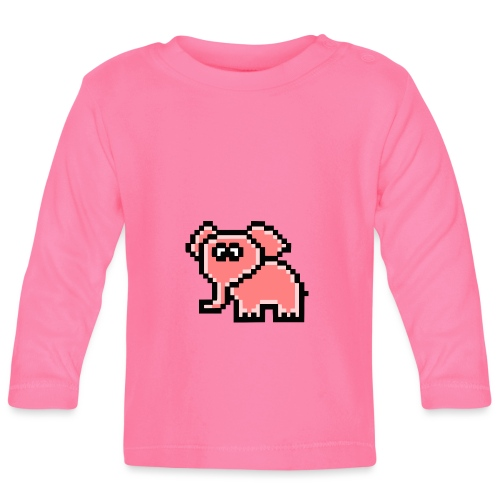 Elefant rosa - Baby Langarmshirt