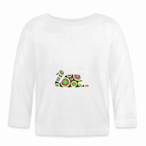 Bunter Schwan mit vielen tollen Farben - Baby Langarmshirt