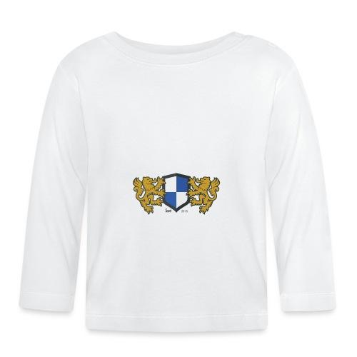 loewen wappen blau weiss - Baby Langarmshirt