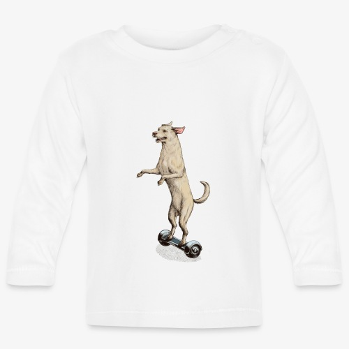 Labrador Hoverboard - Baby Long Sleeve T-Shirt
