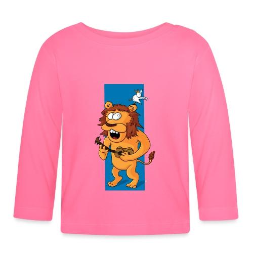 L'ours-lion et l'oiseau - T-shirt manches longues Bébé