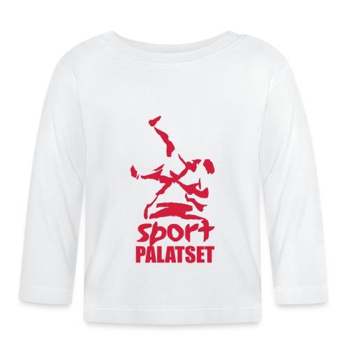 Motiv med röd logga - Långärmad T-shirt baby
