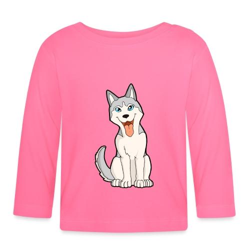 Husky grigio occhi azzurri - Maglietta a manica lunga per bambini