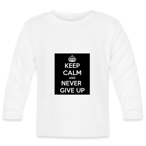 wpid-keep-calm-and-never-give-up-93 - Långärmad T-shirt baby