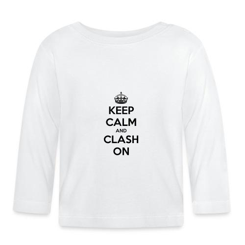 tasse keep calm and clash on - T-shirt manches longues Bébé