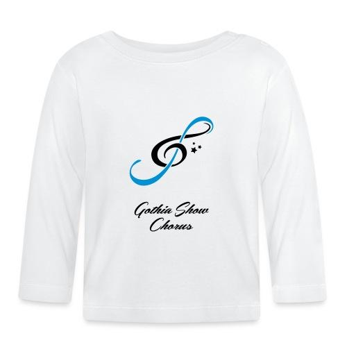 GothiaShowChorus LOGGO Blå svart - Långärmad T-shirt baby