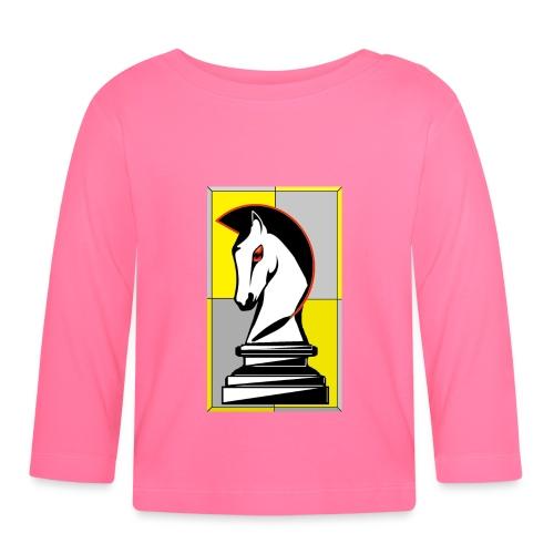 cavallo Scacchi Vers 2 - Maglietta a manica lunga per bambini