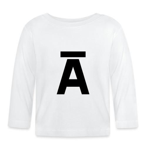 Letter A - Camiseta manga larga bebé