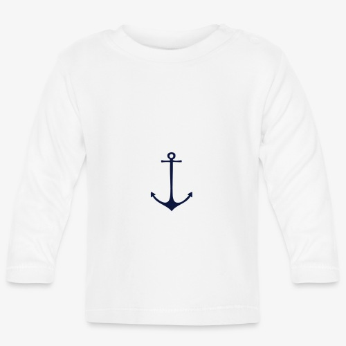 Navy Anchor - Baby Long Sleeve T-Shirt