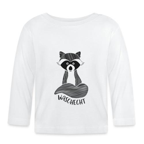 Waschbär waschecht - Baby Langarmshirt