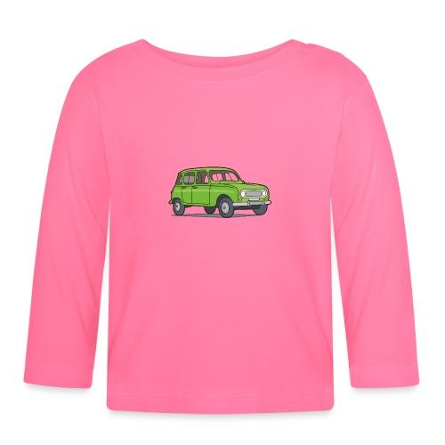 Grüner R4 (Auto) - Baby Langarmshirt