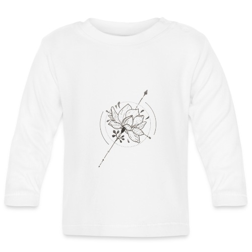 Flower Power - Langærmet babyshirt