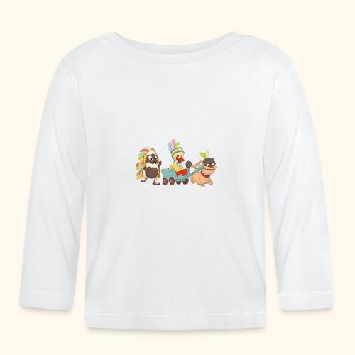 Pittiplatsch Indianerfreunde mit Schnatti & Moppi - Baby Langarmshirt