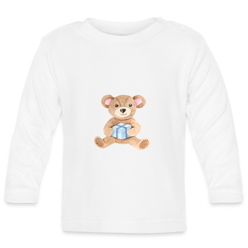 Baby Bib Teddy bear with gift - Baby Long Sleeve T-Shirt