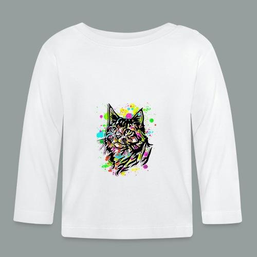 Bunte Katze - Baby Langarmshirt