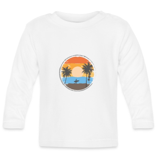 Sunset Retrô - Camiseta manga larga bebé