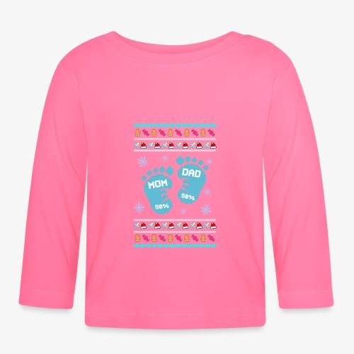 Baby Son Ugly Christmas - Baby Langarmshirt
