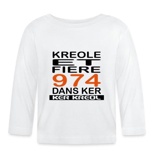 974 ker kreol - Kreole et Fiere - T-shirt manches longues Bébé