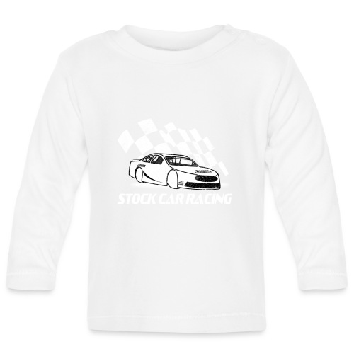 Stock Car Racing car and flag - Baby Long Sleeve T-Shirt