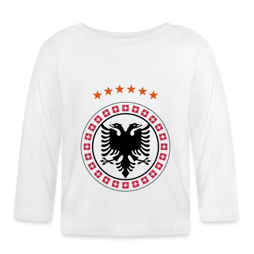 Albanien Kosovo Schweiz - Baby Langarmshirt