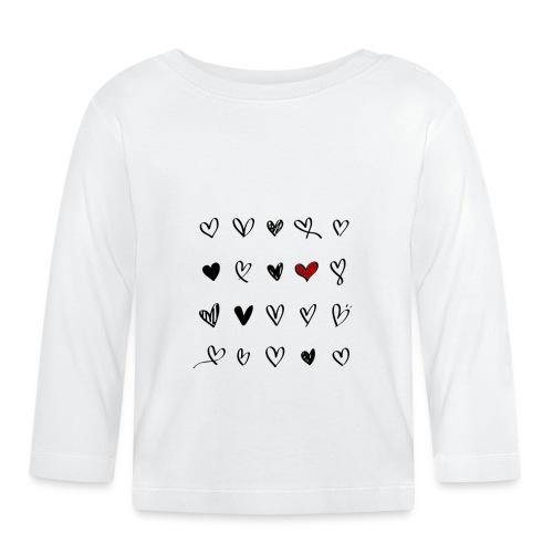 valentines hearts - T-shirt manches longues Bébé