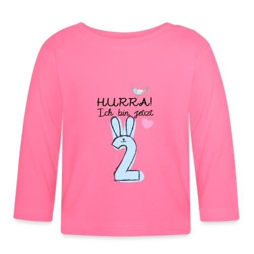Hurra ich bin jetzt 2 / Geschenk zum 2. Geburtstag - Baby Langarmshirt