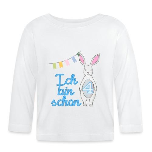 Ich bin schon 4 / Geschenk zum 4. Geburtstag. - Baby Langarmshirt