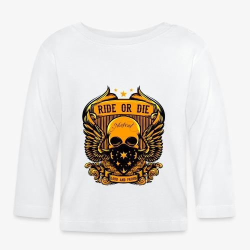 Teschio d'oro con motivo RIDE OR DIE by Mescal - Maglietta a manica lunga per bambini