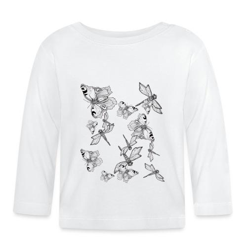 Libelle und Schmetterling - Glaube und Wahrheit - Baby Langarmshirt