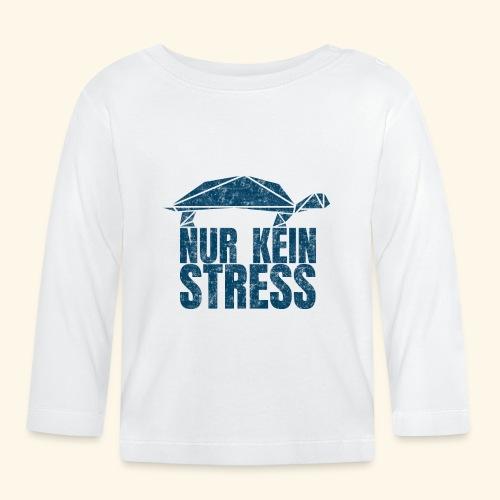 Nur kein Stress witzige Schildkröte Keep Calm - Baby Langarmshirt