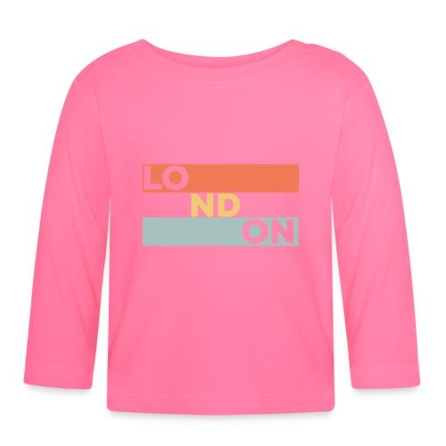 Vintage London Souvenir - Retro Streifen London - Baby Langarmshirt