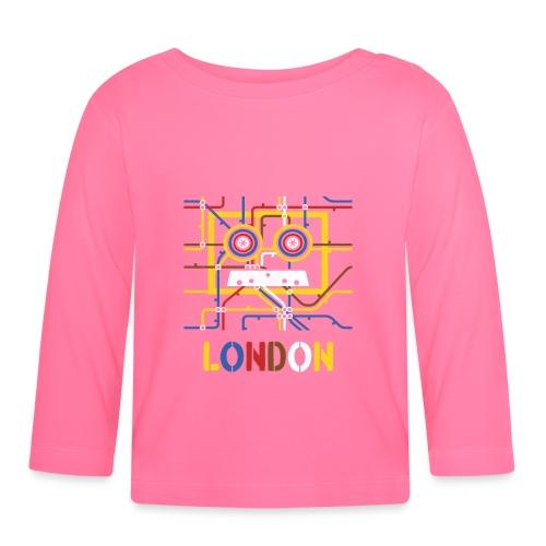 London Tube Map Underground - Baby Langarmshirt