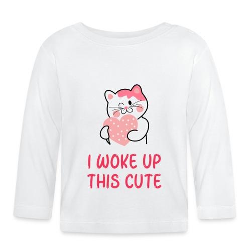 I woke up this cute - Langarmet baby-T-skjorte