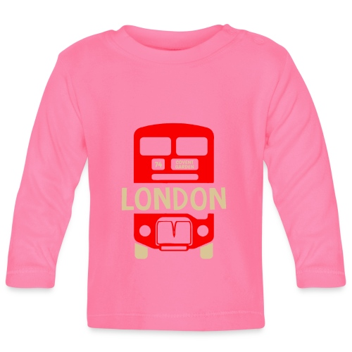 London Bus Roter Doppeldecker London Fan Souvenir - Baby Langarmshirt